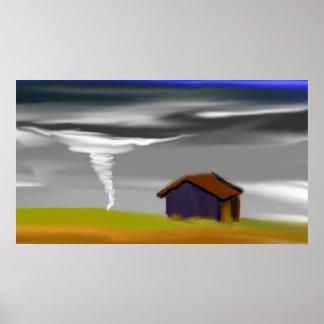 Poster de Skyscape del paisaje del tornado