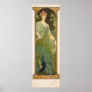 Poster de Sonrel del diseño del vintage del pavo
