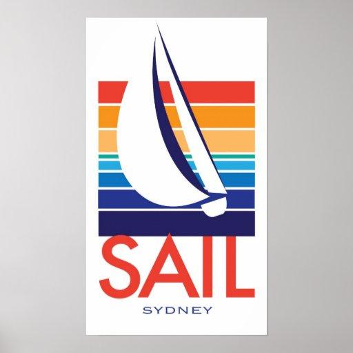 Poster de Square_SAIL Sydney del color del barco