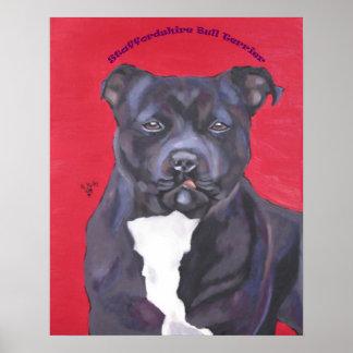 Poster de Staffordshire bull terrier