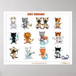 Poster de Starsigns de los gatos del zodiaco Póster