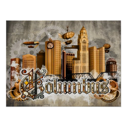 Poster de Steampunk Columbus