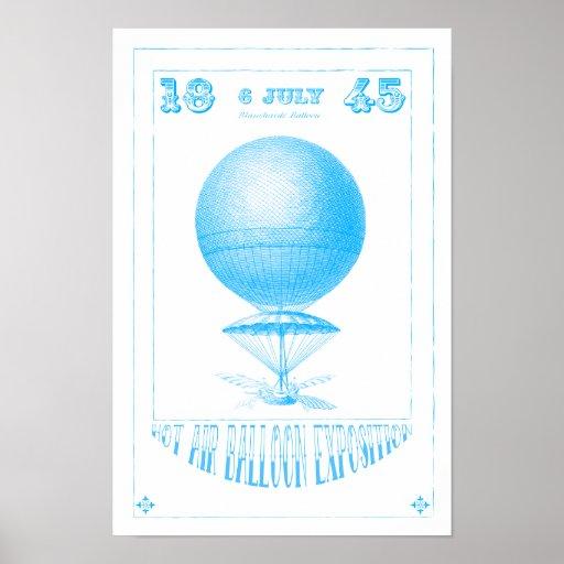Poster de Steampunk del impulso del aire caliente