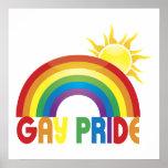 Poster de Sun del arco iris del orgullo gay