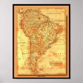 Poster de Suramérica del mapa de Viejo Mundo de Af