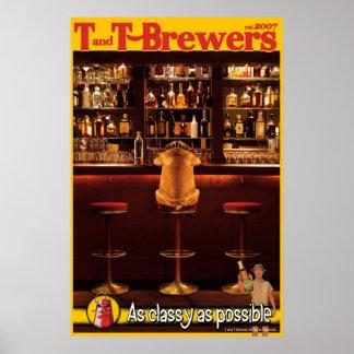 Poster de T y de los cerveceros de T