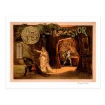 Poster de teatro #1 del juego de las virutas para postal