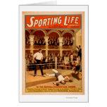 Poster de teatro de encajonamiento del juego de la tarjeta de felicitación