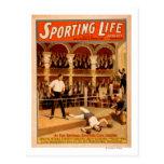 Poster de teatro de encajonamiento del juego de la postales