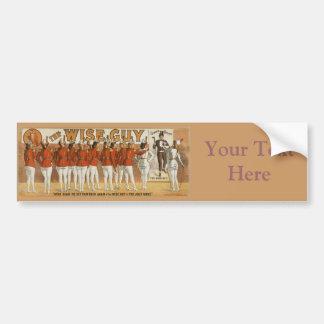 Poster de teatro del vintage 1906 del sabelotodo pegatina para auto