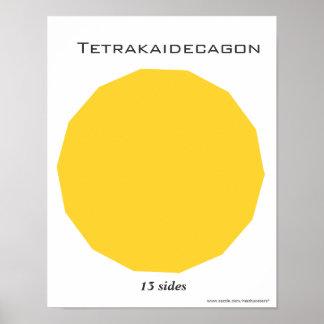 Poster de Tetrakaidecagon del polígono