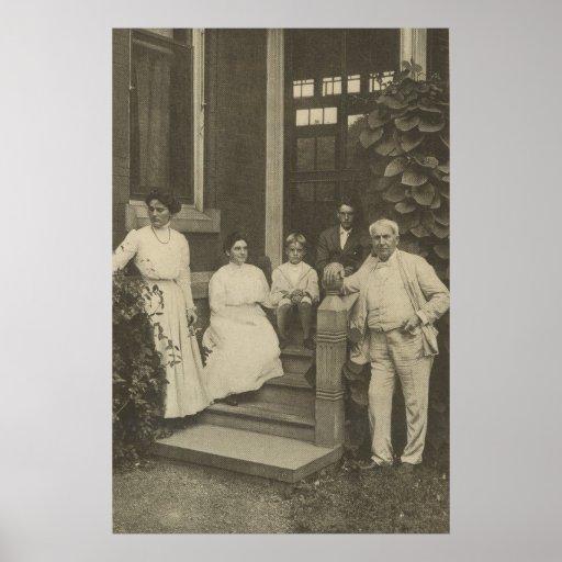 Poster de Thomas Edison y de la familia