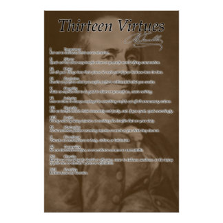 "Poster de ""trece virtudes"""