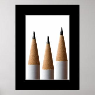 Poster de tres lápices