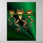 Poster de tres ranas