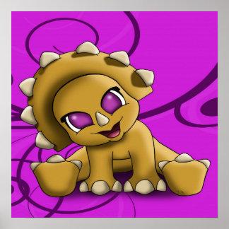 Poster de Triceratop del bebé