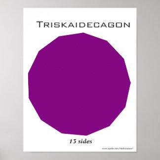 Poster de Triskaidecagon del polígono