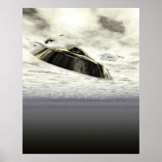 Poster de UFOs en vuelo