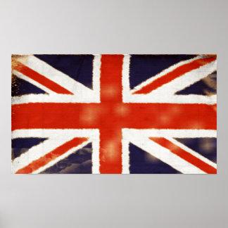 Poster de Union Jack del vintage