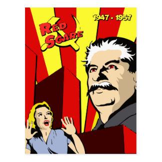 Poster de Unión Soviética del susto rojo del Tarjetas Postales