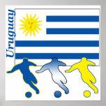 Poster de Uruguay del fútbol