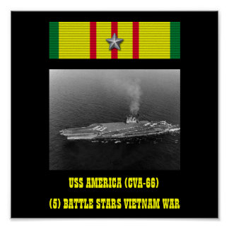 POSTER DE USS AMÉRICA CVA-66