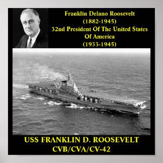 POSTER DE USS FRANKLIN D ROOSEVELT CVB CVA CV-42