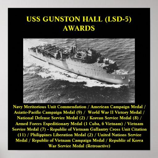 POSTER DE USS GUNSTON HALL (LSD-5)