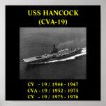 POSTER DE USS HANCOCK (CV-19)