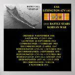 POSTER DE USS LEXINGTON (CV-16)
