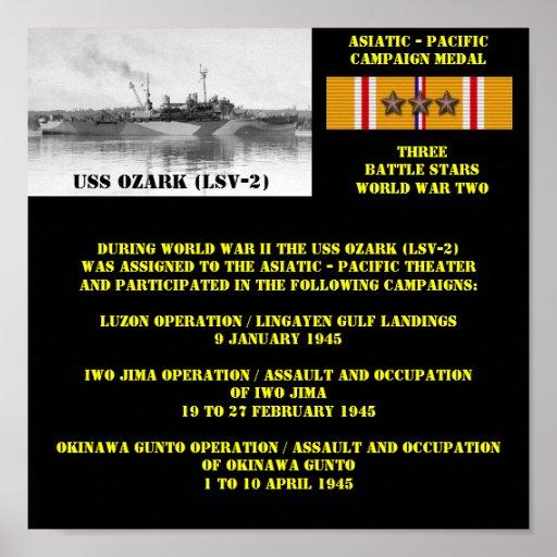 POSTER DE USS OZARK (LSV-2)