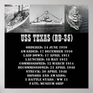 POSTER DE USS TEJAS (BB-35)