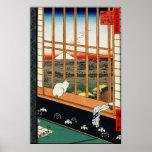Poster de Utagawa Hiroshige: Asakusa Ricefields