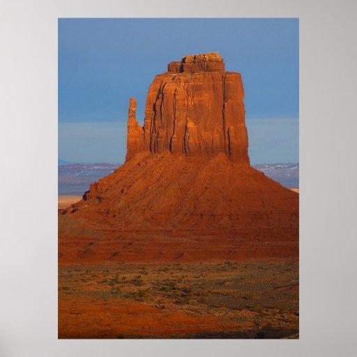 poster de Utah Arizona del valle del monumento