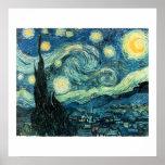 Poster de Van Gogh de la noche estrellada (de alta