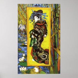 Poster de Van Gogh Japonaiserie Oiran Póster