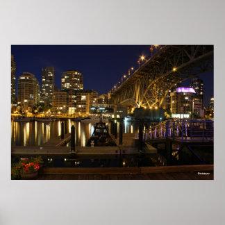 Poster de Vancouver del puente de Granville