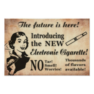 Poster de Vaping del estilo del vintage