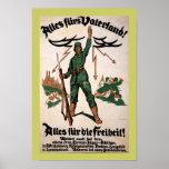 Poster de Vaterland WWI de las pieles de Alles (fr