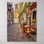 Poster de Venecia, café de la acera