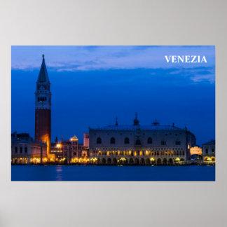 Poster de Venecia con el cuadrado de San Marco