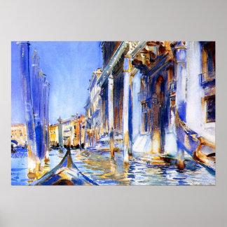 Poster de Venecia del dell'Angelo de John Singer S