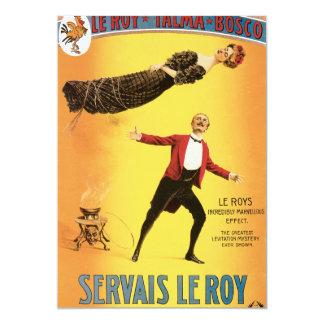 """Poster de Vintage Servais Le Roy Magician Invitación 5"""" X 7"""""""