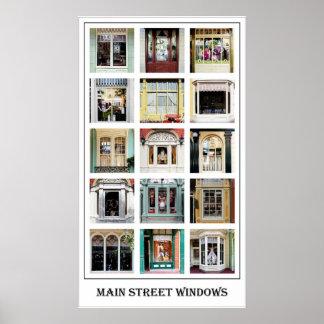 Poster de Windows de la calle principal