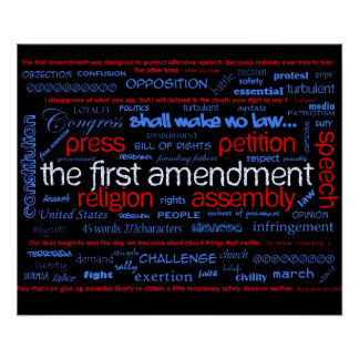 """Poster de """"Wordle"""" de la Primera Enmienda"""
