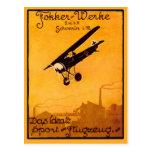 Poster de Worke de Fokker en Notecards Postal