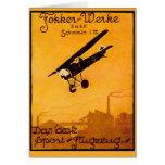 Poster de Worke de Fokker en Notecards Tarjetas
