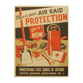 Poster de WPA de la defensa de la protección del Cuadros De Madera