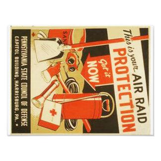 Poster de WPA de la defensa de la protección del Fotografías