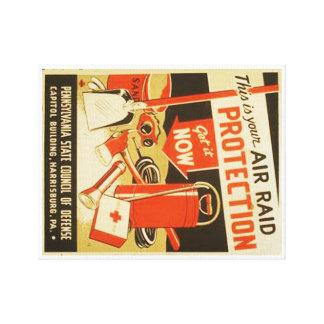 Poster de WPA de la defensa de la protección del Impresión En Lienzo